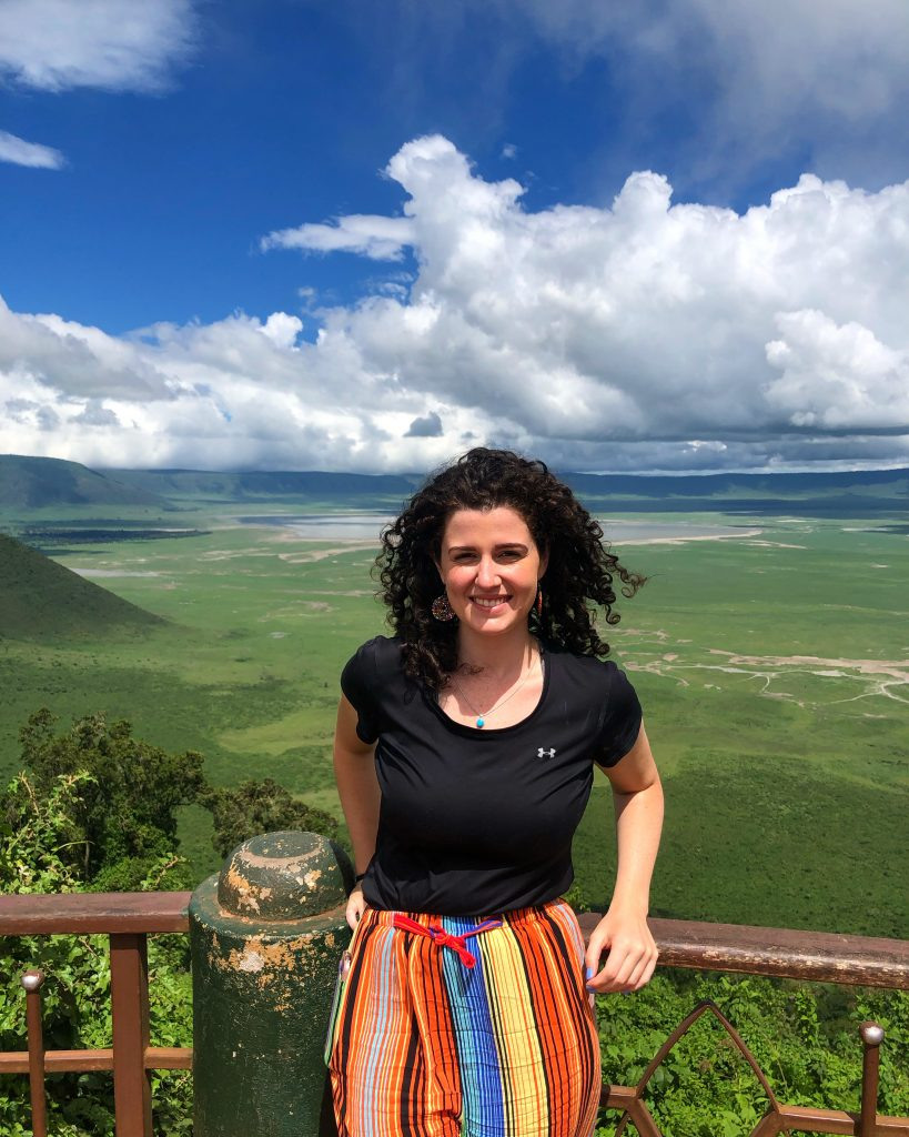 Claire Sullivan, a 2019 Boren Scholar, during her year abroad in Tanzania.